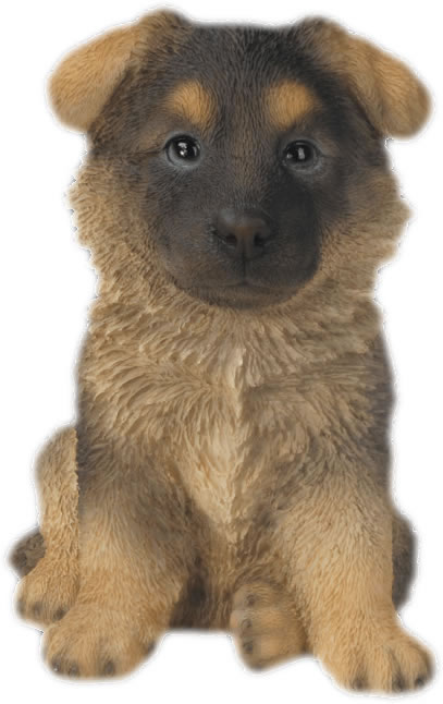 German Shepherd Puppy Statue