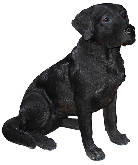 Black Labrador Retriever Statue- 14.25
