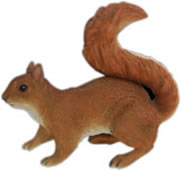"Red Squirrel Statue- 11.75""L"