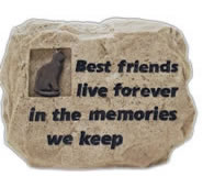 Cat Memorial Stone- Best Friends/Tan