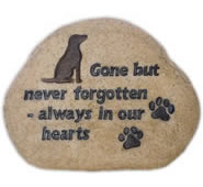 Dog Memorial Stone- Never Forgotten
