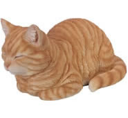 "Dreaming Ginger Cat Statue 13.5""L"