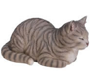 "Dreaming Tabby Cat Statue- 13.5""L"