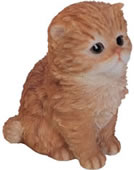 "Ginger Persian Kitten Statue 6.5""H"