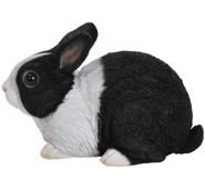 "Sitting Dutch Rabbit Statue- 9.5""L"