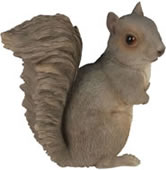 "Sitting Grey Squirrel Statue- 7.5""H"