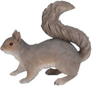 "Grey Squirrel Statue- 8.75""L"