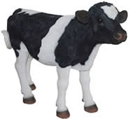 "Standing Cow Calf Statue- 25""L"