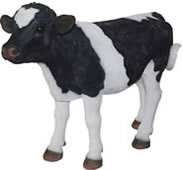 "Standing Cow Calf Statue- 18""L"