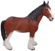 "Clydesdale Horse Statue- 9.5""L"