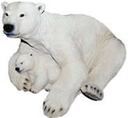 "Polar Bear Family Statue- 10.5""L"