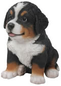 Realistic Bernese Mountain Dog Puppy Statue