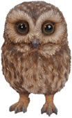 "Baby Tawny Owl Statue- 5""H"
