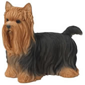 "Yorkshire Terrier Dog Statue 11.75""L"