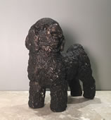 "Bronze Maltese Dog Statue-8""H"