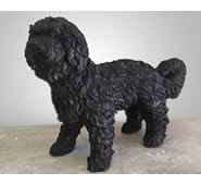 "Bronze Maltese Dog Statue-23""L"