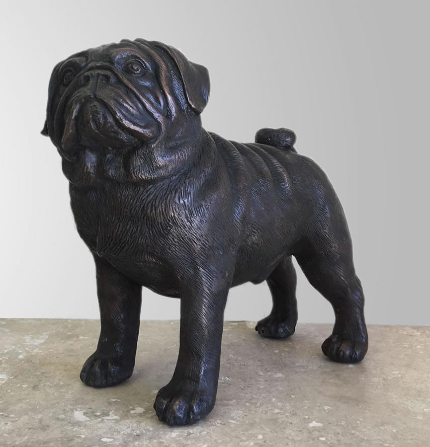 Bronze Pug Dog Statue 12 Quot H Bronze Pa6281 Allsculptures Com