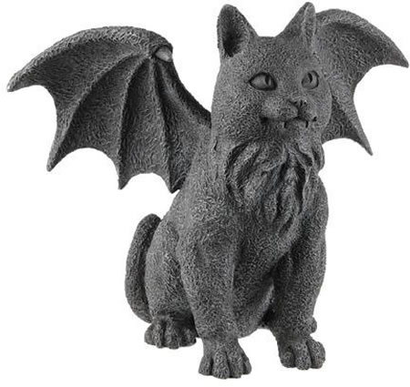 Winged Cat Gargoyle Statue