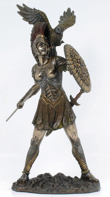 Athena Greek Goddess Of Wisdom Figurative Sculptures