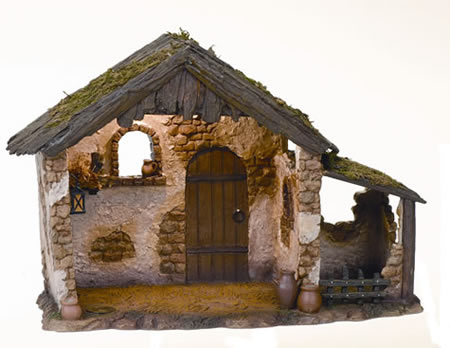 Fontanini Lighted Nativity Stable