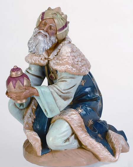 Fontanini Kneeling King Gaspar Nativity Statue- 12 Inch Scale