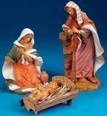 Fontanini Holy Family- 3 Piece Nativity Set, 18 Inch