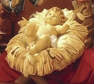 Fontanini Cradle for Nativity Scene (Infant Not Included)