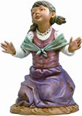Fontanini Beth- Kneeling Girl Nativity Statue