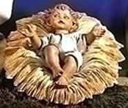 Fontanini Infant Jesus in Manger Nativity Statue- 2 Piece