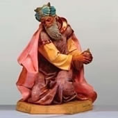 Fontanini Kneeling King Gaspar Nativity Statue- 27 Inch Scale