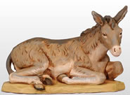 Fontanini Seated Donkey Nativity Figurine- 27 Inch Scale