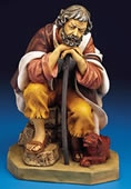 Fontanini Old Man Abraham with Dog Nativity Statue