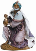 Fontanini Kneeling King Gaspar Nativity Statue- 18 Inch Scale