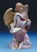 Fontanini Kneeling Angel Nativity Statue- 18 Inch Scale