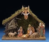 Fontanini 7 Piece Centennial Nativity Set with Italian Stable