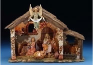 Fontanini 6 Piece Centennial Nativity Set with Lighted Stable