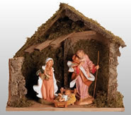 Fontanini Nativity Set with Italian Stable- 4 Piece