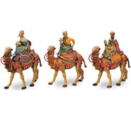 Fontanini Nativity- Three Kings Riding Camels Figurines