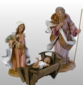 Fontanini Three Piece Nativity Statue Set- 12 Inch Scale