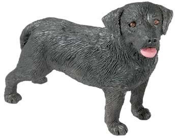 Black Labrador Retriever Figurine by Sandicast