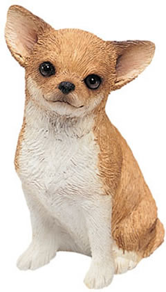 Fawn Chihuahua Dog Figurine by Sandicast