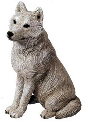 Arctic Wolf Figurine by Sandicast