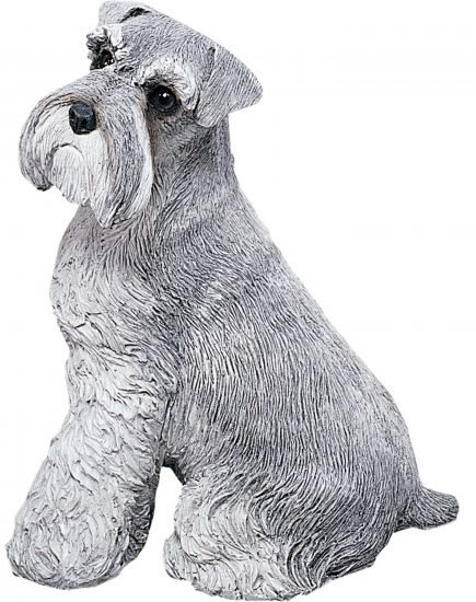 Schnauzer Dog Statue by Sandicast, UC/Gray