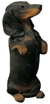 Dachshund Dog Statue- Smooth/Black