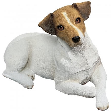 Jack Russell Terrier Dog Statue, Smooth