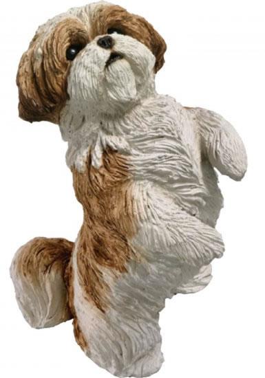 Shih Tzu Dog Statue Gold White Sandicast All Products