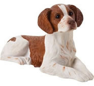 Brittany Spaniel Dog Figurine, Orange and White