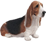 Sitting Basset Hound Dog Figurine