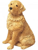 Golden Retriever Dog Figurine by Sandicast
