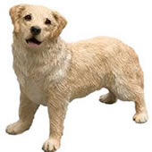 Light Golden Retriever Dog Figurine